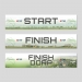spandoeken start, finish en finsh dorp